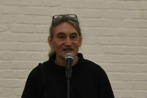 Johan Vermariën tijdens zijn dankwoord